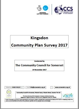 Kingsdon Community Plan Survey 2017