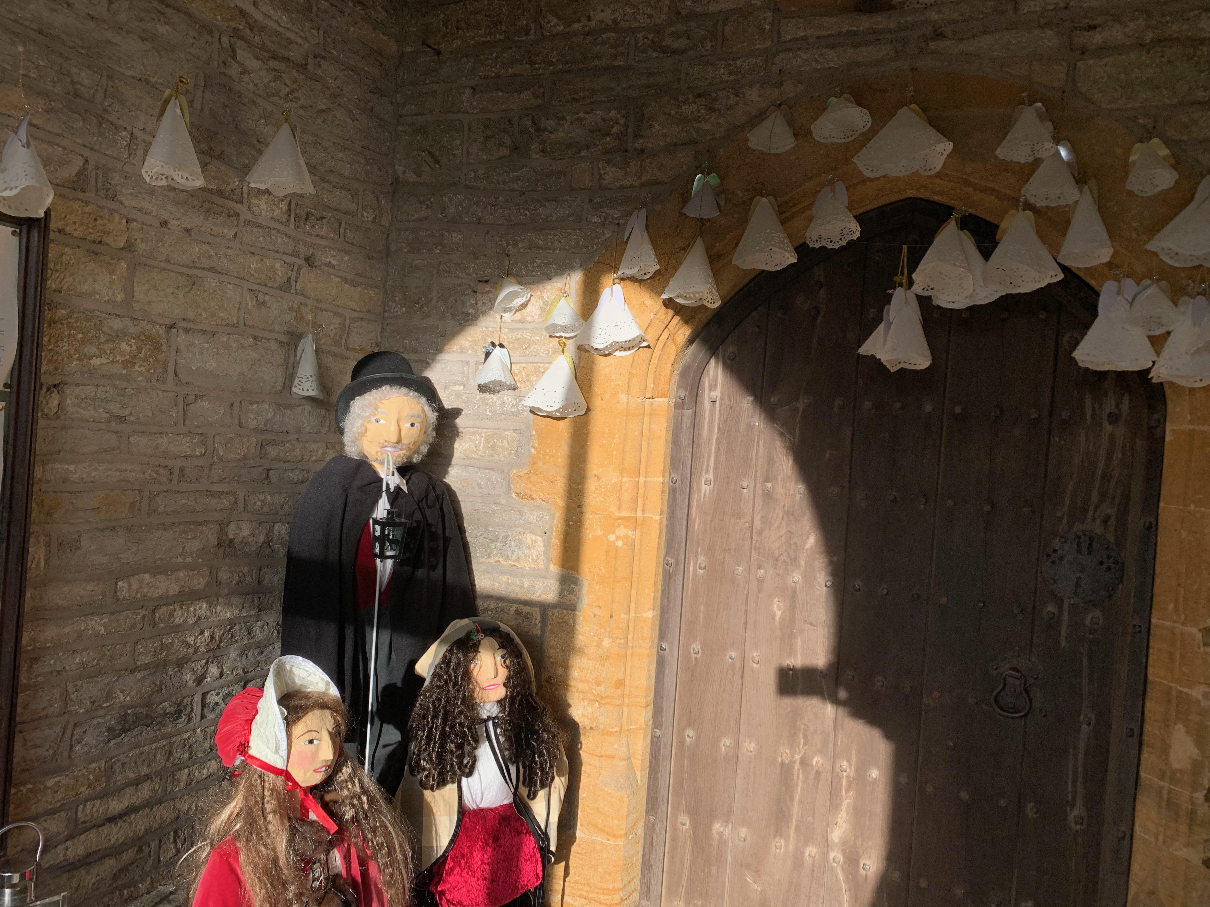 Festive visitors to Kingsdon All Saints Church
